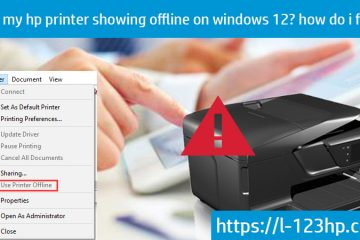 hp peinter showing offline on window 10