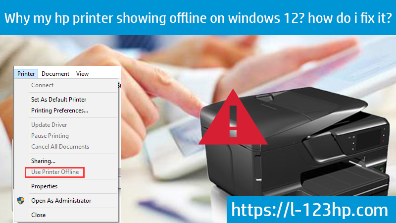 HP Printer Showing Offline on Windows 10