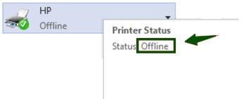 "HP Printer is offline due to ""Use Printer Offline"" mode"