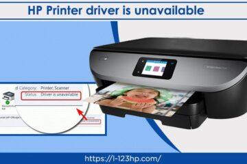 HP Printer driver unavailable