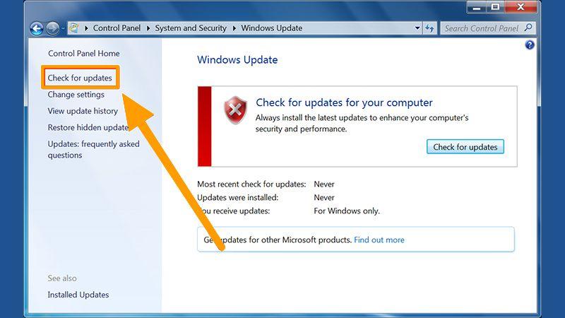 Install the Updates on Windows 7