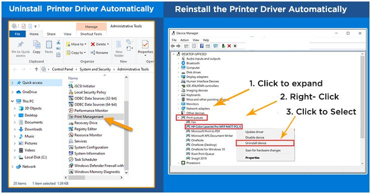 Uninstall and Reinstall the Printer Driver Automatically